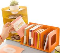 home office furniture - New novelty Wood book shelf desktop books CD storage rack bookend books holder support furniture office supply home decoration