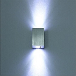 Wholesale W LED Wall Lamp Light Fixture Wall Sconce Porch Brushed Aluminum AC58 V for Bath Bedroom Living Room Hallway
