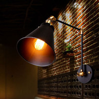 arm umbrella - Industrial Vintage Wall Lamps RH Simple style Wall Lights LOFT Little Umbrella Double Arm Bedside Lamp Restaurant Light Fixtures