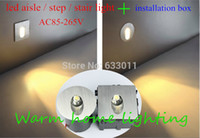 Wholesale led Sconce Lamps v w W Recessed Led Stair Light Wall Lights In Step aisle lamps Embedded concrete walls lighting