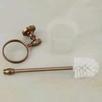 Wholesale Bathroom Toilet Brushes Set Space Aluminum Wall Mounted Toilet Brush Holder bathroom accessories F