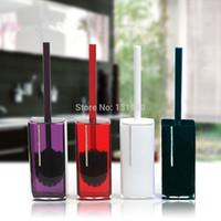 bath brush set - colors acrylic toilet brush holder set with disassemble brush bath accessories YKLA S