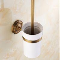 antique bathroom hardware - European Luxurious Bathroom Accessorie Antique Bronze Toilet Brush Holder Bathroom Products bath hardware High quality HJ F