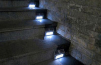 Wholesale New Arrival LED Solar Power Steel Step Stairs Light Pathway Garden Deck Path Wall Lamp