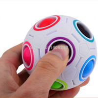 Wholesale New Arrival Hot Selling Rainbow Ball Football Speed Puzzle Magic Cube Best Children Toy Gift C46