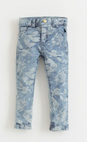 baby rose jeans - Beautiful Fashion personality children jeans baby Jacquard denim trousers Rose Flocking flower