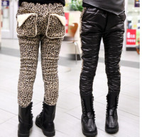 ab jeans - winter the girls jeans AB version leopard thick warm pants jeans for girls fashion casaco for kids Free ship E3