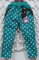 Wholesale Hot sale spring cute dot pattern children trousers kids pants for girls