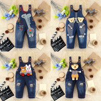 baby boys dungarees - Cute Unisex baby romper Clothes Kids Denim Overalls Jumpsuits Boy Girl Pants Jeans Dungarees Kids Animal Clothing