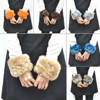 armed wool coat - Fashion Women Girls Faux Fur Short Wrist Arm Cuff Winter Warmer Coat Furry Wristband