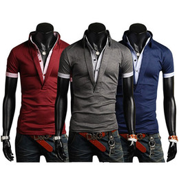 Wholesale S XXL Size New Men tops Large in Stock Size Good Quality Men s Polo Shirt Short Sleeve Polo Shirt for Boy Men E035