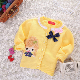 Wholesale LOONGBOB NEW bebe warm sweater baby girl spring autumn sweater cardigans outerwear girls doll top coat girl jacket C