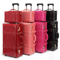 Wholesale sport bag women and men travel bag leather the box PU trolley case new style travel luggage lock mute