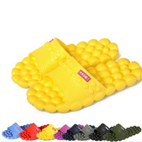 massage slippers - Hot Sale New Summer Women Flats Sandals and Slippers Non slip Bathroom Slippers Home Couples Massage Slippers