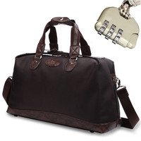 Wholesale Oxford Mens Large Holdall Gym Sports Bags Waterproof Travel Luggage Duffle Leather Handbags Tote Bag Suitcase with Password Lock