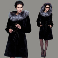 australian leather jackets - lady Australian sheepskin and fur coat with natural silver fox in hood top quality Femal genuine leather sheep jacket overcoat