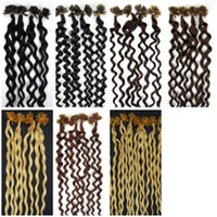 beauty tips hair styles - Women s Beauty Style Inch Pre Bonded Keratin Nail U Shape Tip Real Hair Extensions Curly S colors
