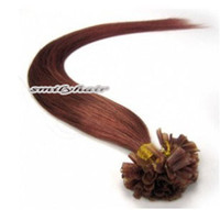 aa extension - AA grade quot quot g piece keratin Nail U tip natural hair extensions silky straight color