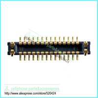 Cheap Wholesale-5pcs lot for iPhone 5C LCD FPC connector for mainboard , Free ship
