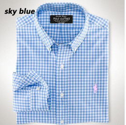 Wholesale-New Arrival 2015 Spring Men Shirt Lattice Design Korean Style Casual Mens Plaid Shirts Man Long Sleeve 100% cotton dress shirts