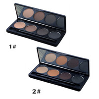 beauty salon wear - New Beauty Makeup Color Eyebrow Powder Shadow Palette With Double Ended Brush Salon Kit