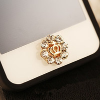 Cheap Wholesale-Min.order is $10(Mix order)Free Shipping New Rhinestone Crown Botton Cell Phone Keypads