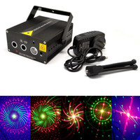 Wholesale patterns Professional stage Portable multi LED music Laser Stage Lighting Adjustment Party Wedding Club Projector light