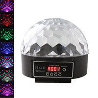 Others Auto 110V Wholesale-Digital LED RGB Crystal Magic Ball Effect Light DMX 512 Disco DJ Stage Lighting with remote controller+music player