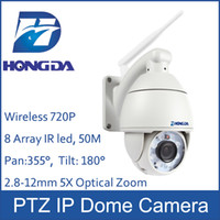Wholesale Hot sale PTZ Dome wireless IP camera outdoor mm lens X optical Zoom HD P Waterproof security wifi ipcam
