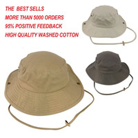 Wholesale Brand New Cotton Bucket Hat With String Boonie Hunting Fishing Outdoor Sports Hat Cap Custom Embroidery Logo