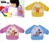 Wholesale New Minnie Mickey Baby Kids Robe Smock Overclothes Over Coat Y Dustcoat Vestrue Baby Overall Smock