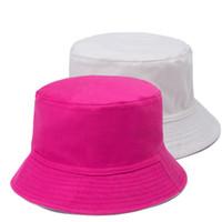 Cheap Wholesale-2015 Outdoor children bucket hats for children 100% cotton bob chapeau hat kids fisherman spring summer sun protection cap