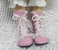 doll shoes - Luxury Dolls Shoes Fit inch American Girl Pink Princess Boots With Lace Fashion Dolls Accessories