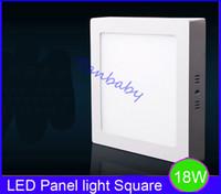 Wholesale Square led ceiling panel light W Surface mounted panel led lamp AC85 V white or warm white led outdoor lamp