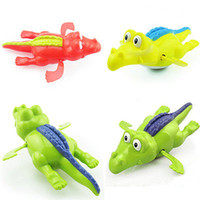 Cheap Wholesale-Clockwork Diver Toy Pool Water Swimming Crocodile Wind-up Toy For Baby Kid Gift