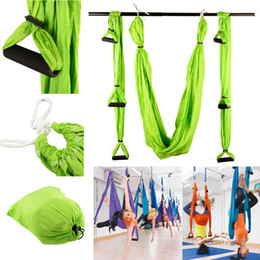 Wholesale High Strength Decompression Hammock Inversion Trapeze Anti Gravity Aerial Traction Yoga Gym Swing Hanging Green