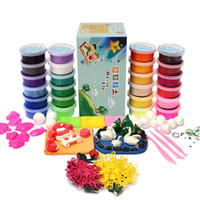 Wholesale color thinking magnet putty plasticine doh dough kinetic play set polymer modeling clay fimo tools kit sand molds Toys tools