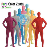 Wholesale New HE Practical Full Body Spandex Cosplay Clothes Skin Suit Catsuit Halloween Zentai Costumes S XL Colors Choice