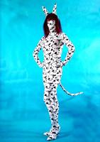 Precio de Trajes de cuerpo de spandex al por mayor-Al por mayor-sexo puntos del perro de Lycra Spandex Zentai Catsuit del traje de Cosplay de Halloween con todo incluido Body Unisex Zentai cosume