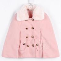al por mayor mayoristas coreano para la ropa-Wholesale-2015 abrigos chaqueta de invierno del otoño por Capa capa libre del envío especial de invierno ropa de la piel de Corea Mayorista Nueva niña