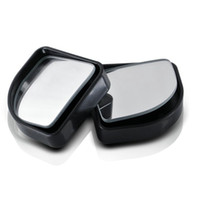 auto sector - Pair Push Rearview View Convex Mirror Wide Angle Sector Adjustable Auto Car Blind Spot Mirror Black