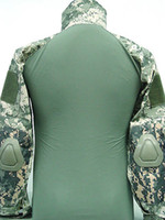 Camping & Hiking Full Cotton Wholesale-Tactical Combat Shirt w  Elbow Pad Digital ACU Camo
