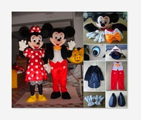 Wholesale High quality adult size Mickey mascot costume and Minnie mascot costume Halloween parties birthday parties