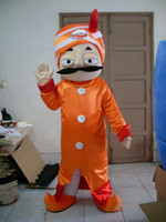arab business - Professional orange clothes Arab business men mascot Fancy Dress Costume Adult Size EPE Suit mascot costume