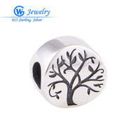 alibaba express - Tree of life charm pendant sterling silver for Christams diy gift alibaba express GW fine jewelry T108