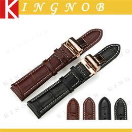 2017 bracelet en cuir véritable Bracelet en cuir véritable en alligator Bracelet en cuir de veau alligator 12 13 14 15 16 18 19mm 20mm 21mm 22mm Bracelet 24mm pour Breitling Heures bracelet en cuir véritable sur la vente