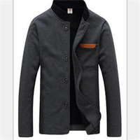 Wholesale Fall Fashion Designer Casual Mandarin Collar Colors Plus Size Jacket Men Brand Single Breasted Casual Male Clothing Man Coat