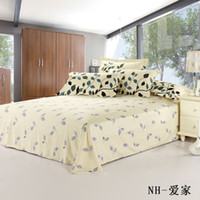 bedspread patterns - New nature cotton dobby leaf pattern fitted sheet kids adult twin size Bedding Sheet Bedspread Bed sheet cm