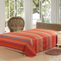 Wholesale New cotton pink polka dot wedding full size flatd sheet adult Bedding Sheet cm