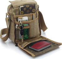 Wholesale Men s Travel Bag Canvas Men Messenger Bags Vintage Style Briefcase Casual Multifunction Outdoor Shoulder Bags